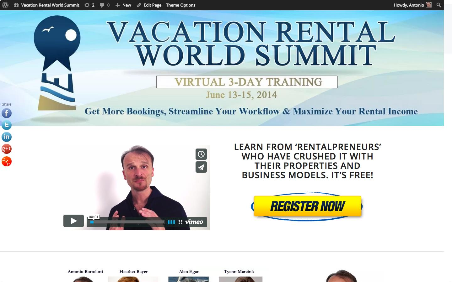Vacation Rental World Summit